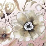 Neutral Flowers on Pink I